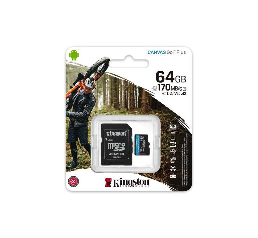 Technology Canvas Go! Plus flashgeheugen 64 GB Micr