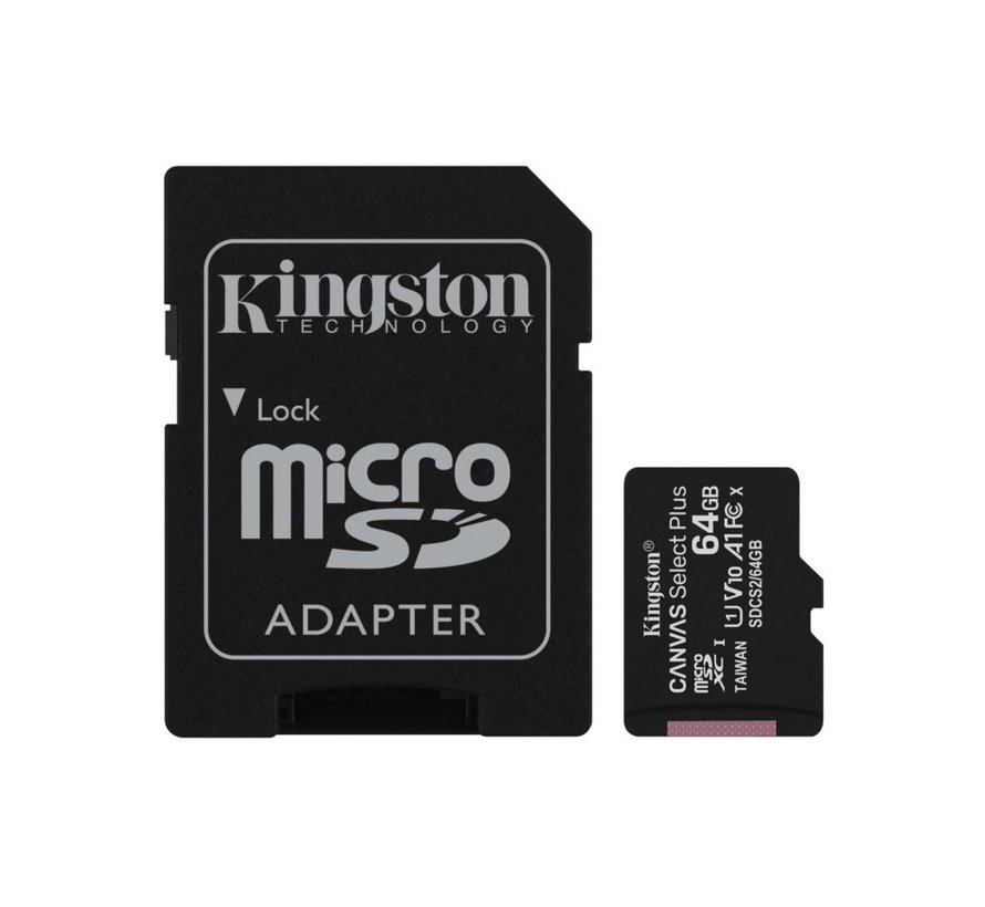 SDCARD  Canvas Select MicroSD 64GB Class10 + adapter