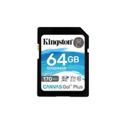 Kingston Technology Canvas Go! Plus flashgeheugen 64 GB SD Klasse 10 UHS-I