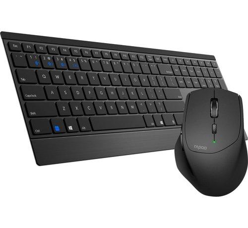 Rapoo 9500M Wireless Keyboard + Mouse Desktopset - Black RFG (refurbished)