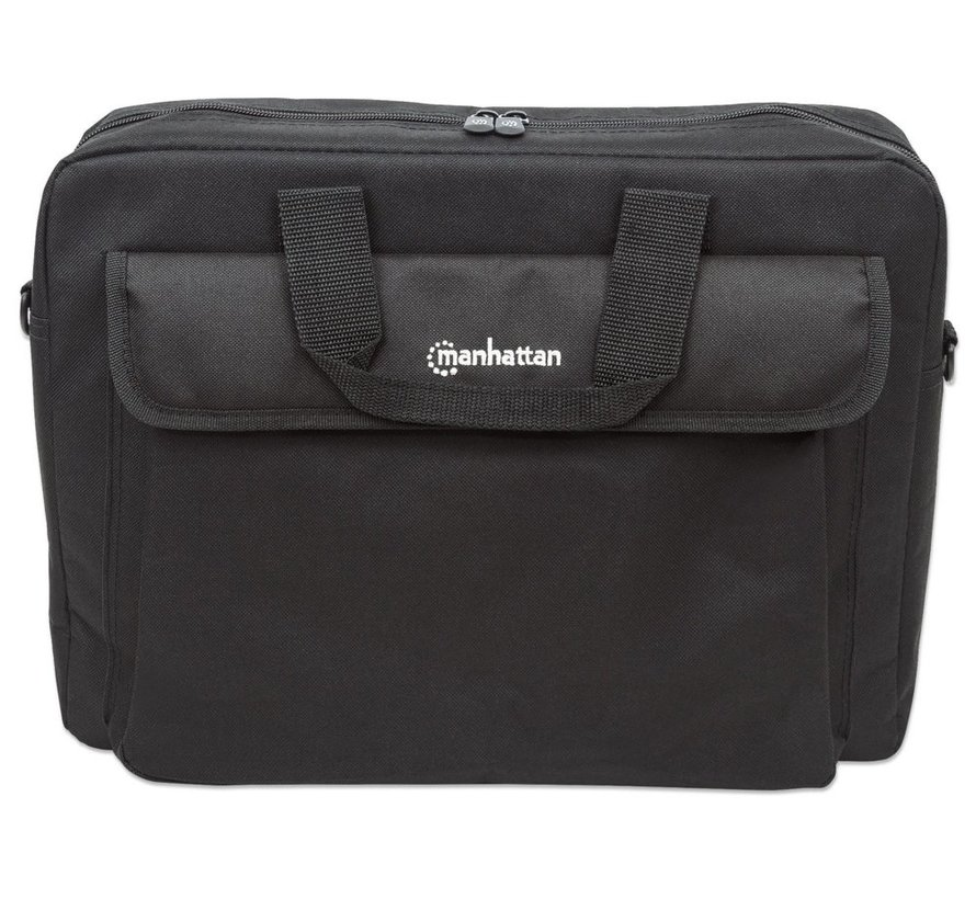 """Manhattan London Notebook Bag 15.6"""" Zwart"""