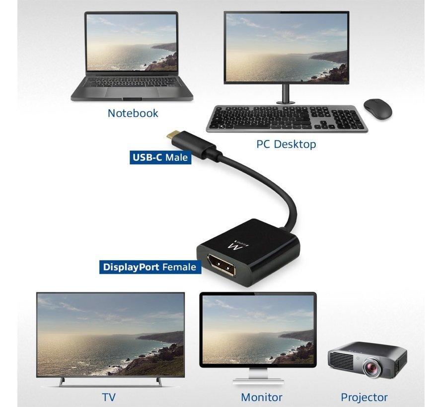 EW9825 video kabel adapter 0,15 m USB Type-C DisplayPo