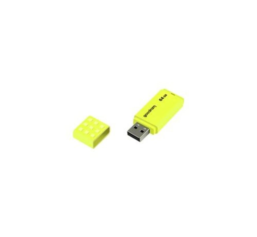 UME2 USB Flashdrive 64GB USB Type-A 2.0 Geel