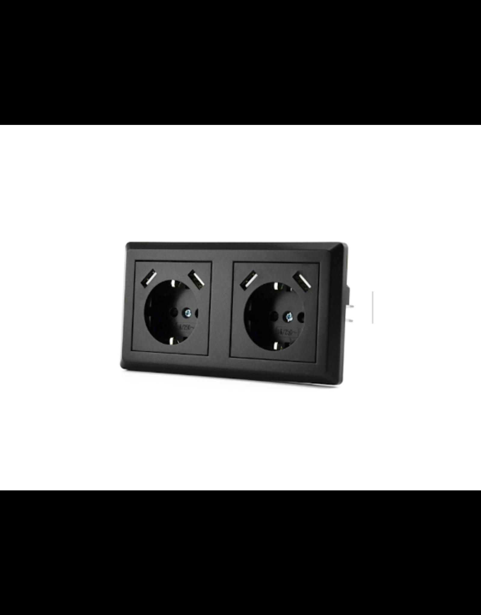 CoshX® CoshX®, dubbel usb stopcontact, dubbele inbouw wanddoos usb
