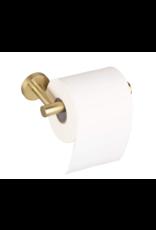 CoshX® Coshx® toiletrolhouder rond geborsteld staal kleur goud