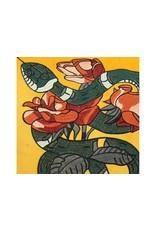 LOFT030 Kussen Velvet Snake Geel 45x45cm