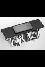 CoshX®  Dubbele toiletrolhouder met telefoonplankje zwart | Toiletrolhouder voor 2 rollen wc papier