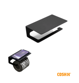 CoshX® TOILETROLHOUDER STRAK DESIGN ZWART