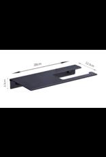 CoshX® CoshX® Toiletrolhouder met legplankje / telefoonplankje - Handoekrekje met plankje in 1 zwart