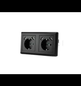CoshX® CoshX®, DUBBEL USB STOPCONTACT ZWART