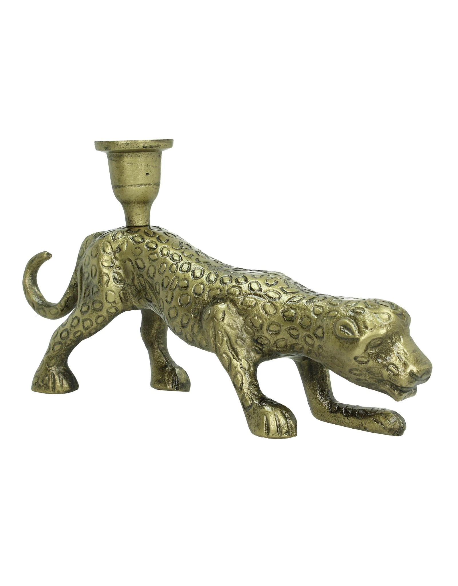 LOFT030 Candle Holder Panter Bronze 20x13x28cm