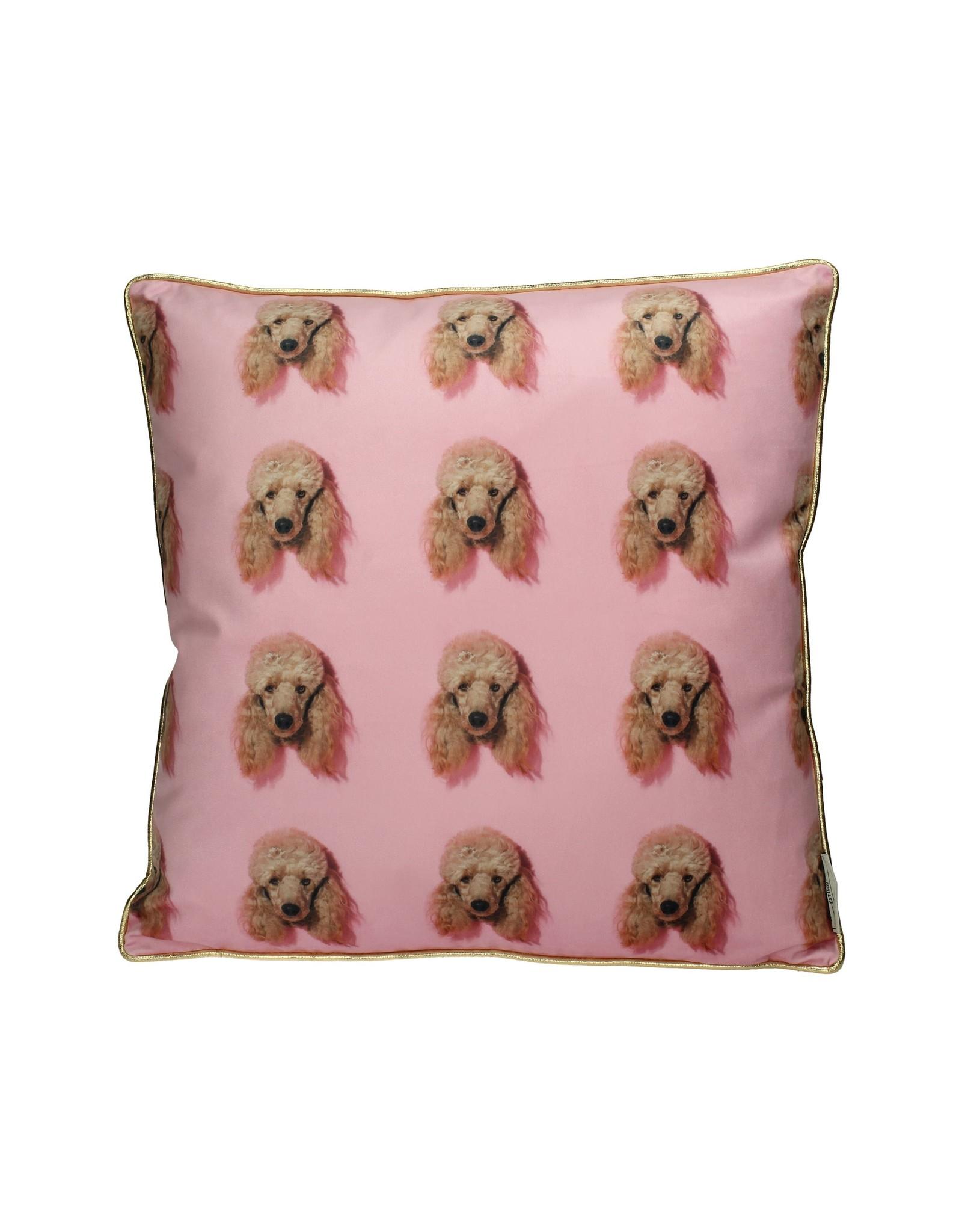 LOFT030 Sierkussen Poodle Pink 45x45cm
