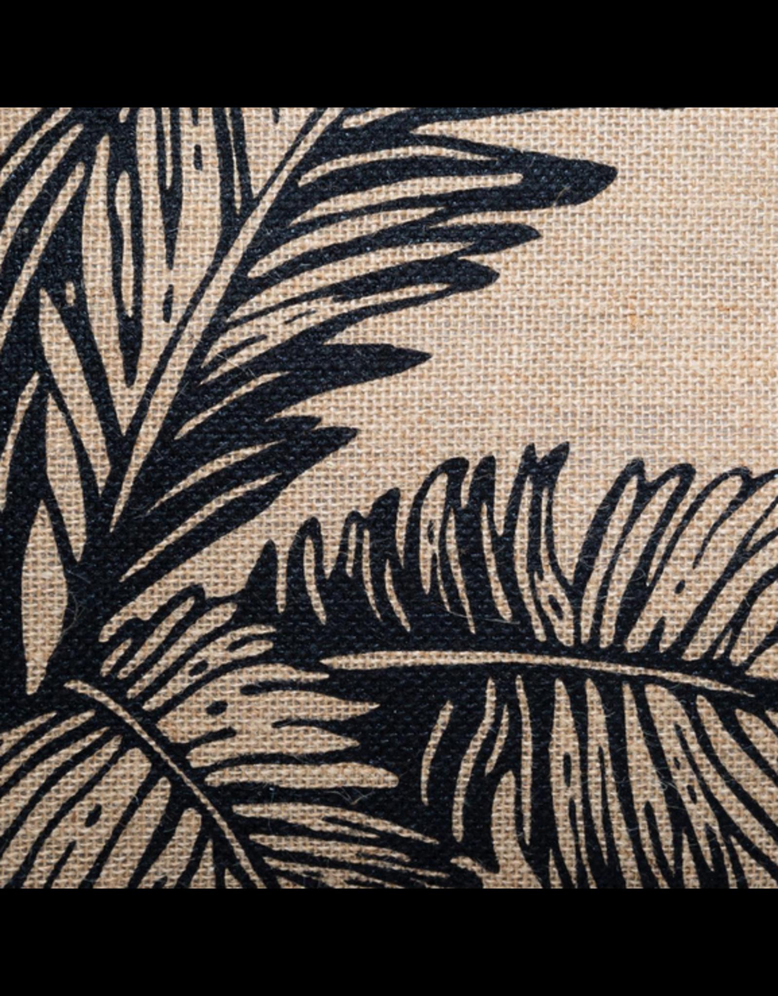 LOFT030 Jute vloerkussen palm 40 x 40 cm