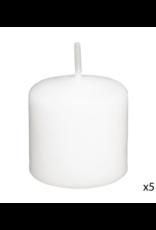 LOFT030 Giftset kaarsen 21 stuks | waxinelichtjes | kaarsen | stompkaarsjes wit