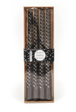 Housevitamin® HV Set van 4 gedraaide kaarsen/ Zwart 2x30cm