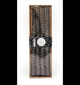 Housevitamin® HV Set van 4 kaarsen/ Zwart 2x30cm