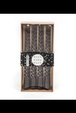 Housevitamin® HV Set van 4 gedraaide kaarsen / Zwart 20cm