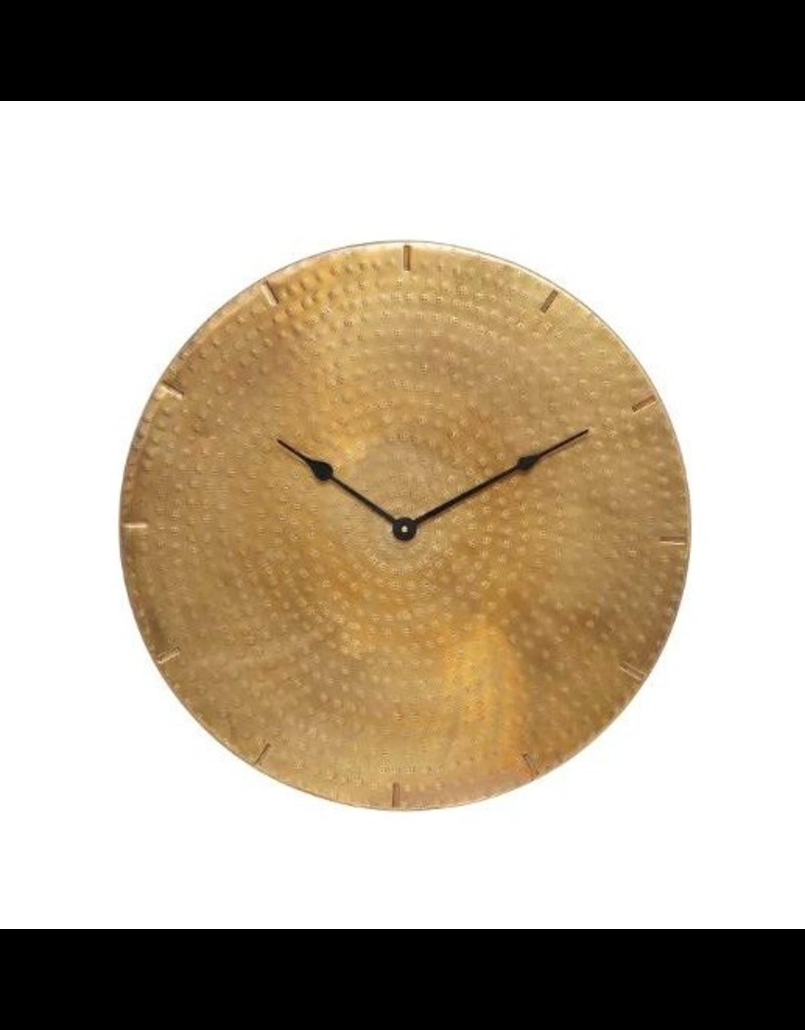 LOFT030 Wandklok XL metaal kleur goud diameter 49 cm