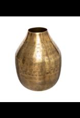 LOFT030 Vaasje goud hoogte 15 cm toelopend
