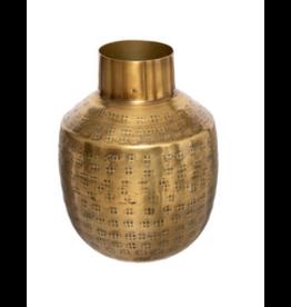 LOFT030 Vaasje goud hoogte 15 cm halfrond