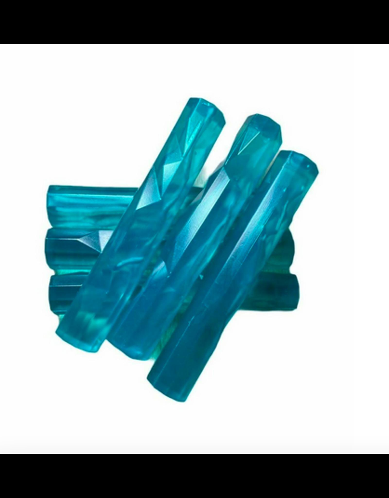LOFT030 Grote ijsstick 6 stuks 11.5 cm blauw ARTIC - herbruikbaar