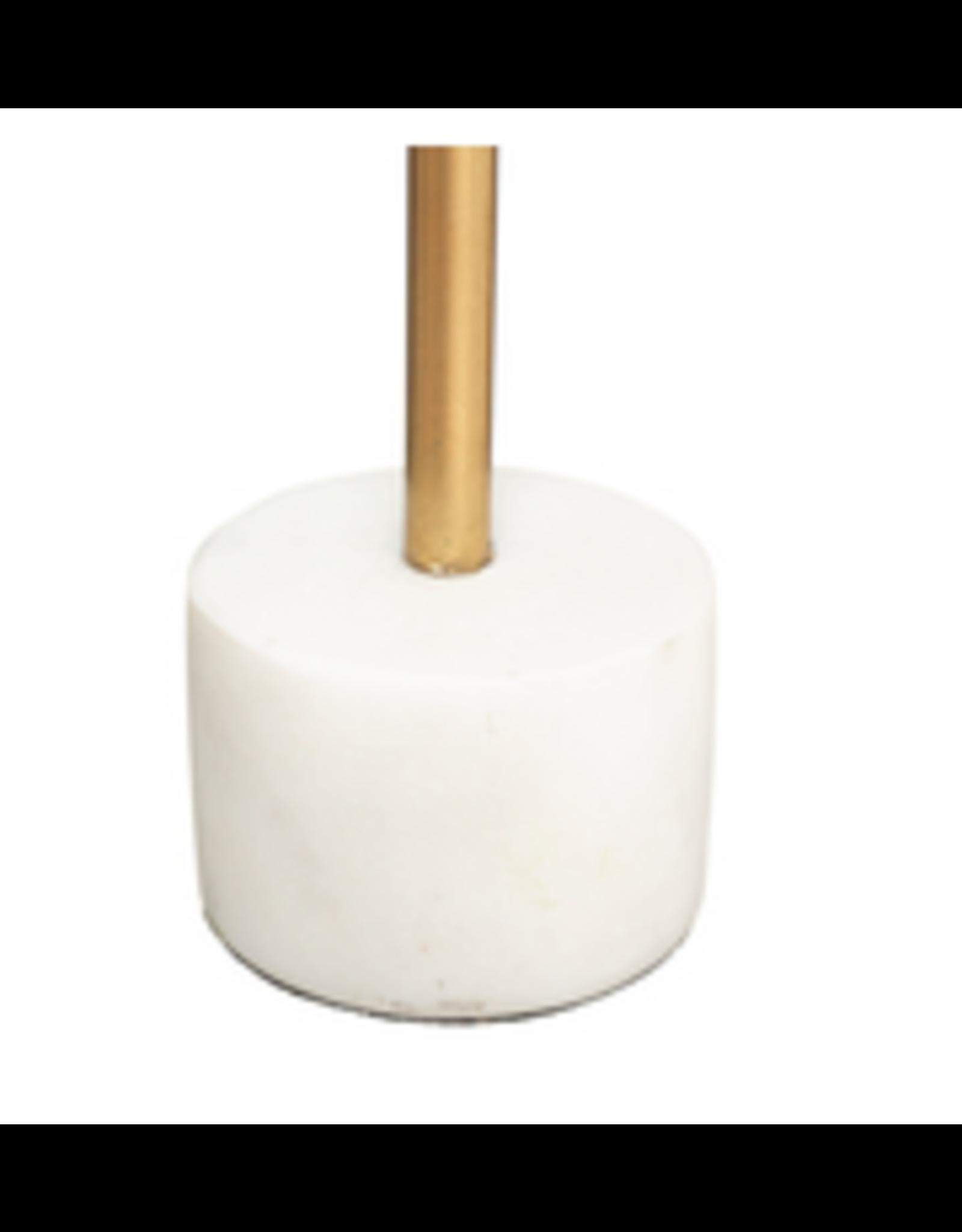 LOFT030 Marmeren kandelaar Hoogte 27 cm wit en goud