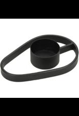 LOFT030 Waxine kandelaar Metaal Zwart 11.5 X 7.5 X 1.8cm
