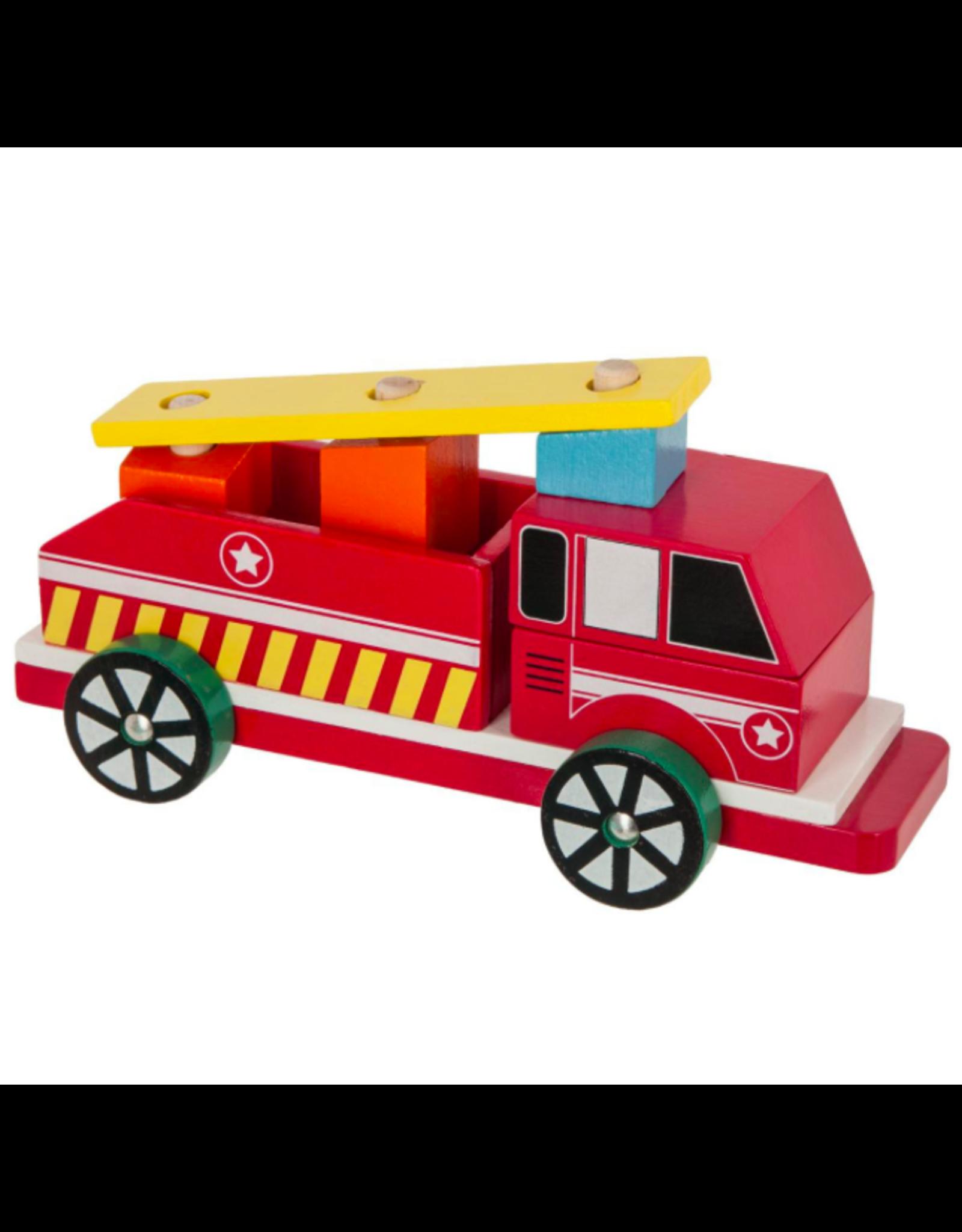 LOFT030 Brandweerwagen in hout 24.5 cm