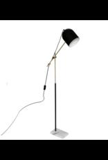 LOFT030 Vloerlamp marmer goud en zwart metaal hoogte 135cm