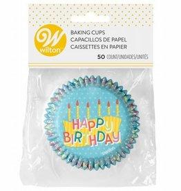 Wilton Wilton Baking Cups Happy Birthday pk/50