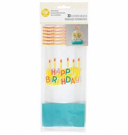 Wilton Wilton Treat Bags Happy Birthday pk/30