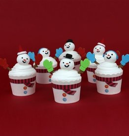 PME Cupcake Decoratie Set Sneeuwpop
