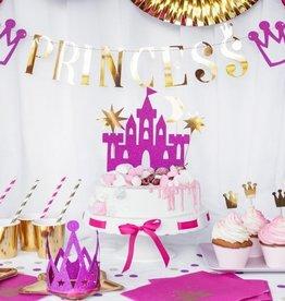 PartyDeco PartyDeco Cake Toppers Prinsessenkasteel Set/4