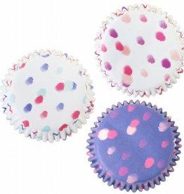 PME Baking Cups Watercolour Dots pk/60