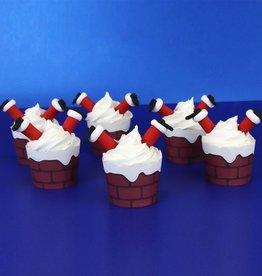 PME Cupcake Decoratie Set Kerstman