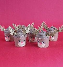 PME Cupcake Decoratie Set Rudolf