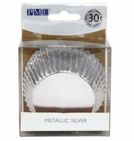 PME Baking Cups Metallic Silver pk/30