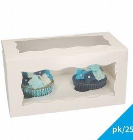 FunCakes Cupcake Doos 2 - Blanco pk/25