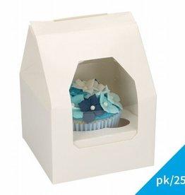 FunCakes FunCakes Cupcake Doos 1 - Blanco pk/25