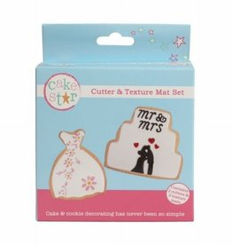 Cake Star Dress & Cake Cutters and Texture Mats set/5