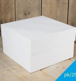 FunCakes FunCakes Taartdoos -Blanco 25x25x15cm- pk/25