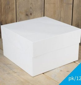 FunCakes FunCakes Taartdoos -Blanco 40x40x15cm- pk/12