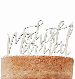 Ginger Ray Ginger Ray Wooden Cake Topper Just Married - Boho