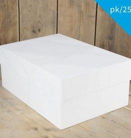 FunCakes FunCakes Taartdoos -Blanco 40x30x15cm- pk/25