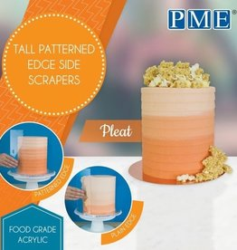 PME PME Tall Patterned Edge Side Scraper -Pleat-