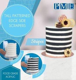 PME PME Tall Patterned Edge Side Scraper -Stripes-