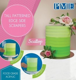 PME PME Tall Patterned Edge Side Scraper -Scallop-