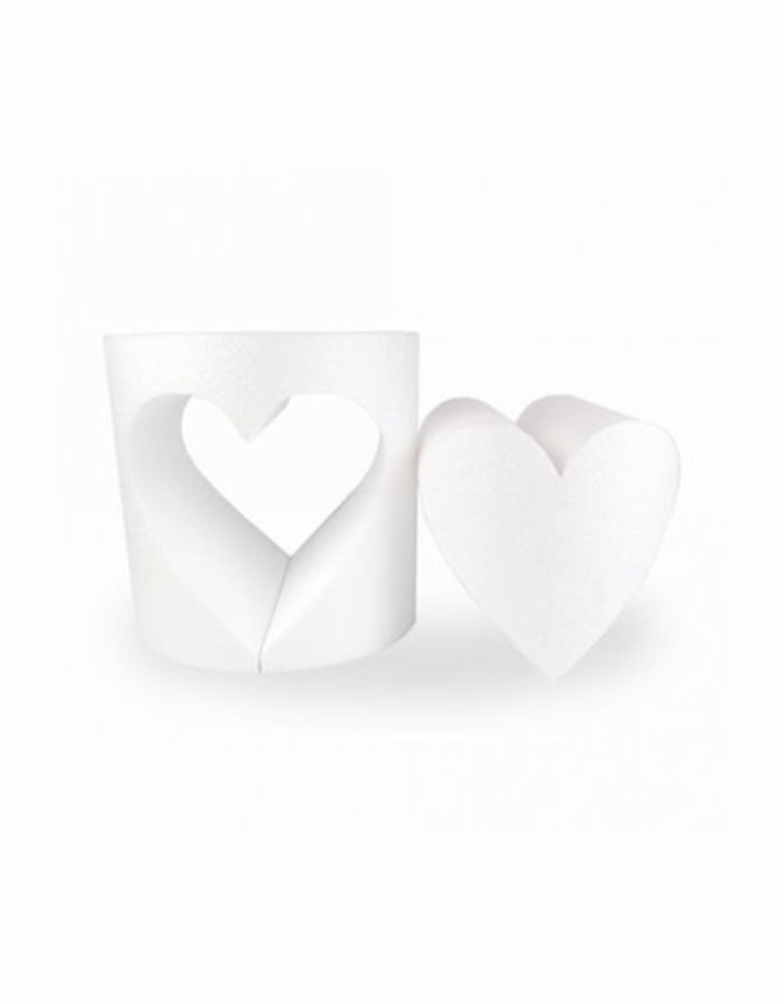 Dummy Rond met uitgesneden hart Ø 20cm - 20cm hoog