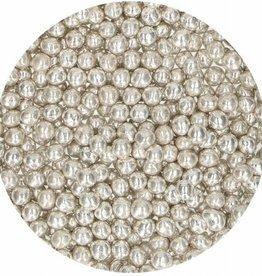 FunCakes FunCakes Zachte Parels Medium Metallic Zilver 55 g