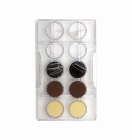 Decora Decora Chocolate Mould Gladde en Gekartelde Rondjes